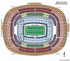 Washington Redskins Seating Chart Fedex Field Fedex Field Tickets