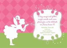 Fairy Party Invitation Wording Pixies And Fairy Wings Birthday Invitation Printable