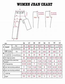 Waist Size Chart For Women S Jeans Womens Pant Size Pant So