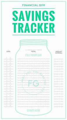 Money Saving Tracker Savings Tracker Free Printable