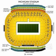 University Of Michigan Big House Seating Chart Michigan Stadium Tickets Michigan Stadium Information