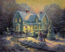 kinkade cottage painting blessings of limited edition canvas