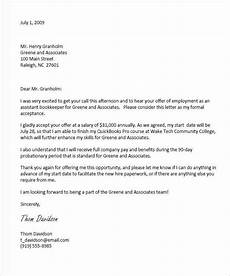 How To Accept An Offer Letter Example Of A Letter Sent Via Email To Accept And Confirm A