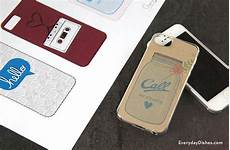 Printable Iphone 6 Case Template Iphone Case Template Printable Everyday Dishes Amp Diy