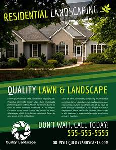 Landscape Flyer Template Quality Residential Landscape Flyer Template