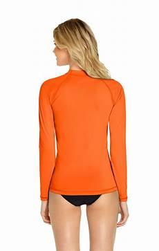 rash guard sleeve rash guard sleeve orange effect inc rash guards