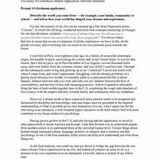 Personal Statement Essay Example For College Examples Of A Personal Essay For College Application