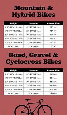 Sizes Of Bikes Chart How To Determine The Best Bike Frame Size For You Moosejaw