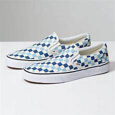 Light Blue And Checkered Vans Checkerboard Slip On Shop At Vans