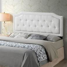 poly and bark kensington tufted ivory size headboard