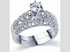 Rhodium Plated Sterling Silver Vintage Style 2Pc