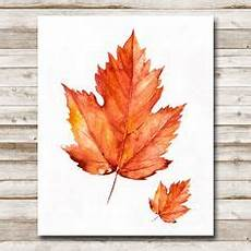 watercolor maple leaf free printable fall leaves