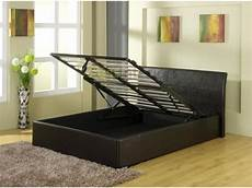 detroit end gas lift black storage bed 3ft 4ft 4ft6 5ft