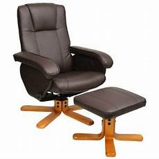 evre brown faux leather padded reclining swivel arm chair