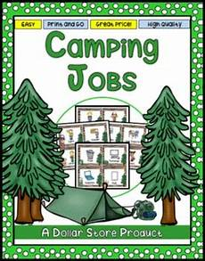 Camping Jobs Camping Theme Classroom Jobs Helpers Editable Tpt