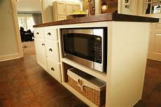 microwave in island in kitchen adding an island to a kitchen