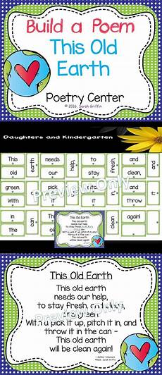 Pocket Chart Poems For Kindergarten Build A Poem This Old Earth Pocket Chart Center