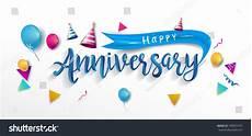Happy Anniversary Design Happy Anniversary Typography Vector Design Greeting Stock
