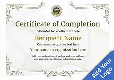 Training Certificate Of Completion Certificate Of Completion Free Quality Printable