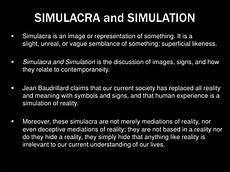 Simulacra And Simulation Simulacra And Simulation