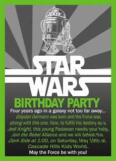 Star Wars Birthday Party Invitations Free Printable Star Wars Birthday Invitations