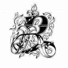 Letter Desings Intricately Hand Drawn Alphabet With Individually Designed
