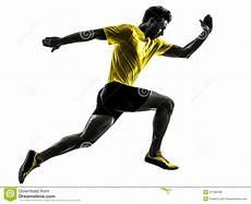 hommes faisant du sport silhouette courante de coureur de sprinter de homme