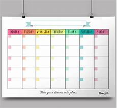 Free Pdf Calendar Template Monthly Templates In High Pdf Files To Be Printed On