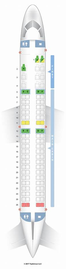 American Eagle Seating Chart Seatguru Seat Map American Airlines Embraer Erj 190 E90