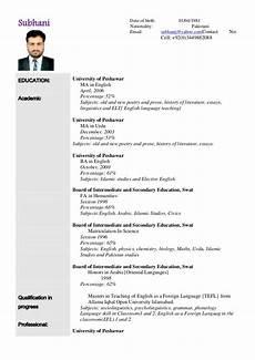Cv Or Resume Sample Sample Resume
