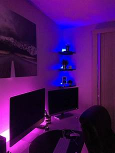 Neon Light Strips For Room Home Office Led Mood Lighting Setup Light From Ikea