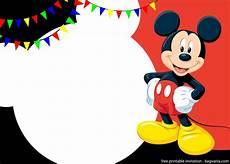 Custom Mickey Mouse Invitations Free Printable Cute Mickey Mouse Invitation Templates
