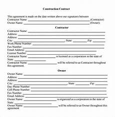 Contractor Contract Sample Free 5 Sample Contractual Agreement Templates In Pdf Ms