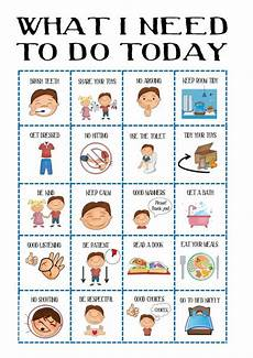 To Do Chart For Toddlers Boys Behaviour Chart Kid S Daily Planner Toddler Routine