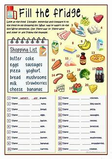 fill the fridge was were some any worksheet free