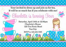 Birthday Invitations Girls Printable Birthday Invitations Girls Tea Party