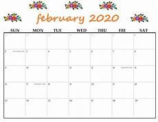 Free Calendar Template February 2020 Printable February 2020 Calendar Calendar Kart