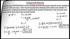 Monthly Compound Interest Formula Compound Interest Youtube