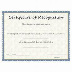 Text For Certificate Of Recognition Certificate Of Recognition