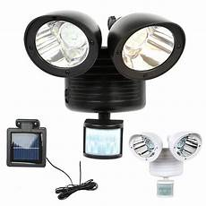 Solar Motion Sensor Light With Alarm 22 Led Security Dual Detector Solar Spot Light Motion