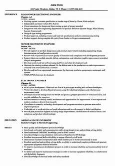 Electronics Engineer Resume Samples Electronic Engineer Resume Samples Velvet Jobs