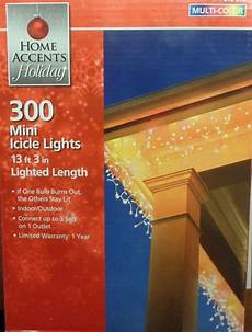 Home Accents Holiday Icicle Lights 2 Boxes Of Home Accents Holiday 300 Mini Multi Color