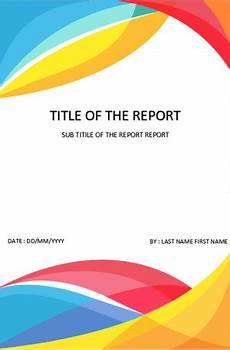 Title Page Template Word 2010 Cover Page Template In Word For Report Download Design