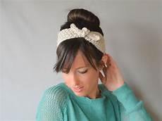 vintage tie up headband knitting pattern favecrafts