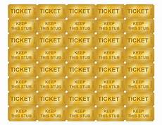 Template For Tickets With Numbers Free Printable Golden Ticket Templates Blank Golden Tickets