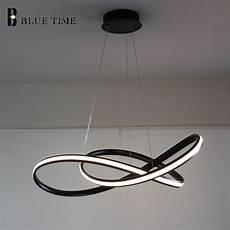 Hanging Led Lights White Black Modern Led Pendant Light For Living Room