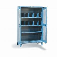 ventilated cabinet with vertical dividers and 3 shelves