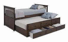 chadwick gray captain bed with trundle