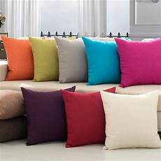 modern solid cotton linen sofa cushion embrace pillow