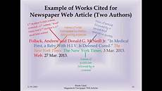 How To Quote A Website Mla Works Cited Magazine And Newspaper Web Articles Youtube